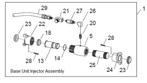 WetBlast Flex Base Unit Injector Assembly