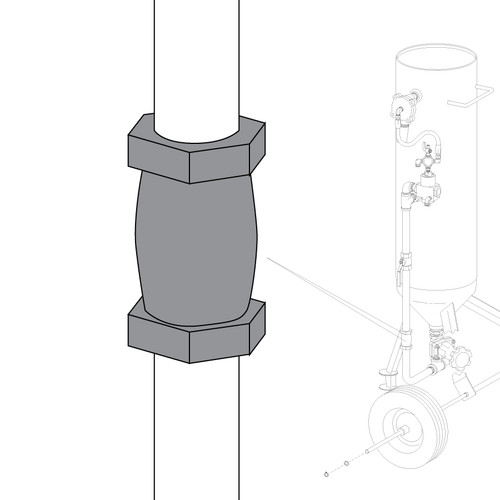 Clemco 1/2Inch Compression Coupling