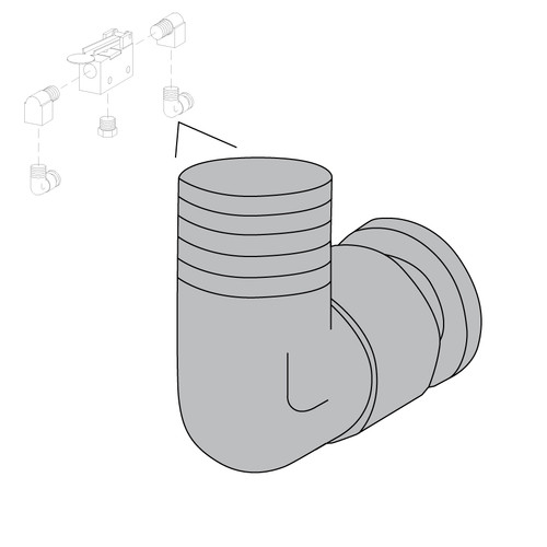 "1/4"" Tubelock 90 Degree Elbow"