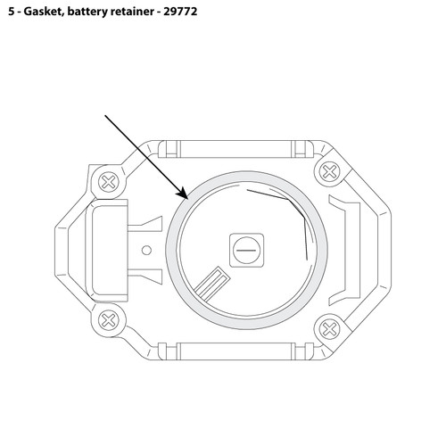 CMS-4 Battery Retainer Gasket