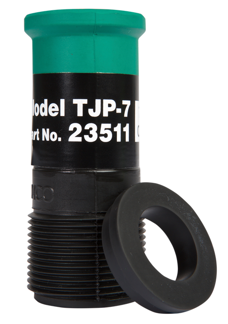 "TJP Standard Thread Nozzle for Hoses 1-1/4"" ID x 2-3/32"" OD"