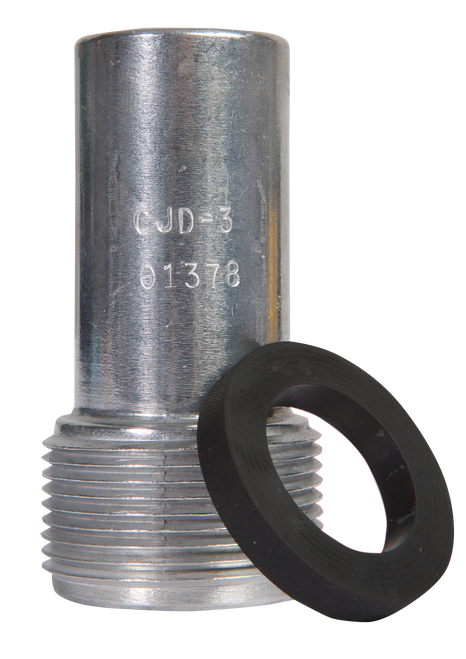 "CJD Standard Thread Nozzle for Hoses 1-1/4"" ID x 2-3/32"" OD"
