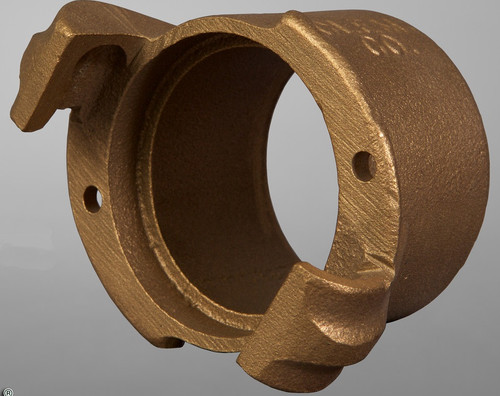 CFFH-B brass nozzle holder, Flanged w/Qk Cplg