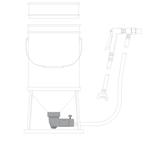 SG-300 Suction Gun Feed Elbow Assembly