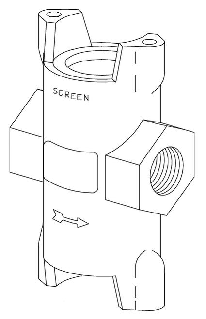 Clemco 1 inch Abrasive trap Body