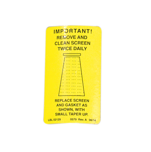 Abrasive Trap Reminder Sticker