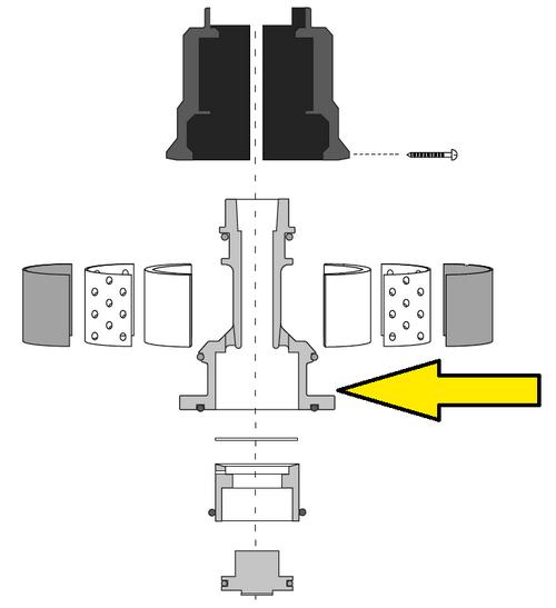 Clemco Millennium Valve Exhaust Valve Body