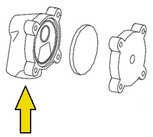 Clemco 1/2 inch Diaphragm Outlet Valve Body