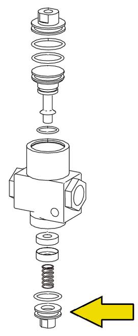 Clemco 1/2 inch Inlet Valve Bottom Plug