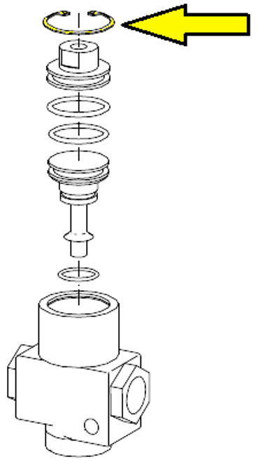 Retaining ring, cap, 1/2 inch inlet/outlet