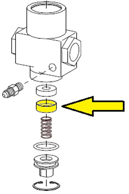 Valve washer retainer, 1/2 inch inlet