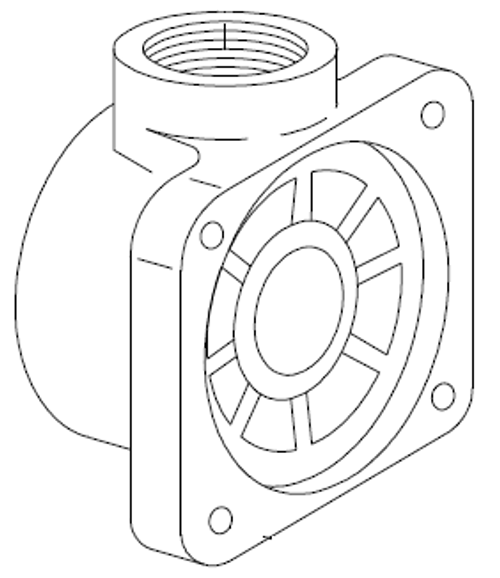 Body, 1 inch diaphragm Outlet Valve