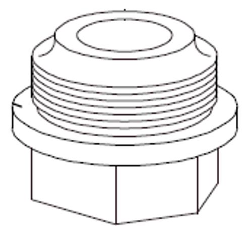 Clemco 1 inch Inlet Valve Bottom Cap