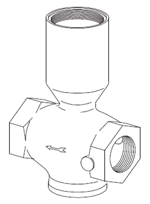 Clemco 1 inch Inlet Valve Body