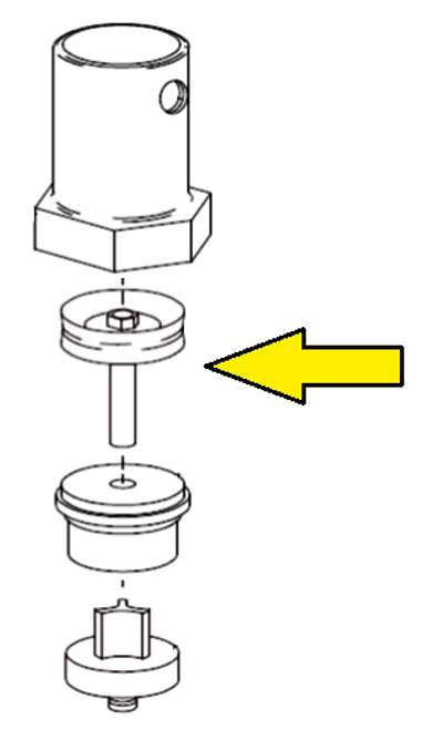 Clemco 1 inch Piston Outlet Valve Piston and Rod Assembly