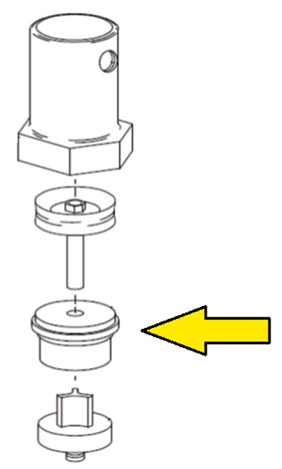 Clemco 1 inch Piston Outlet Valve Plug and Spindle Guide