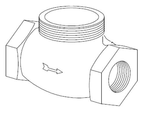 Clemco 1 inch Piston Outlet Valve Body