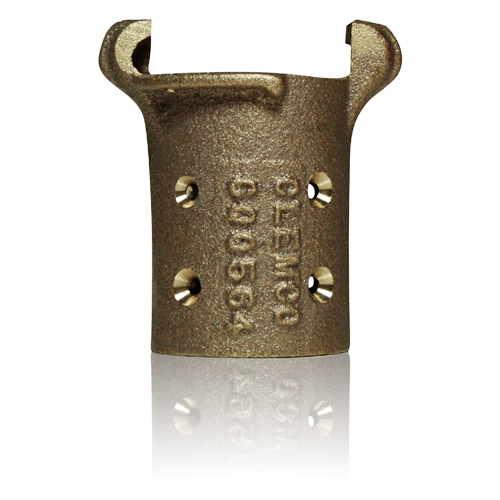 """Clemco CQ-3 Brass Quick Coupling for 2-3/32"""" OD Hose"""
