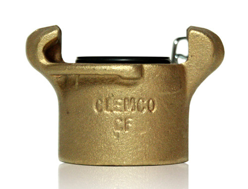 Clemco CF Brass Coupler for 1-1/4 inch threaded nipple