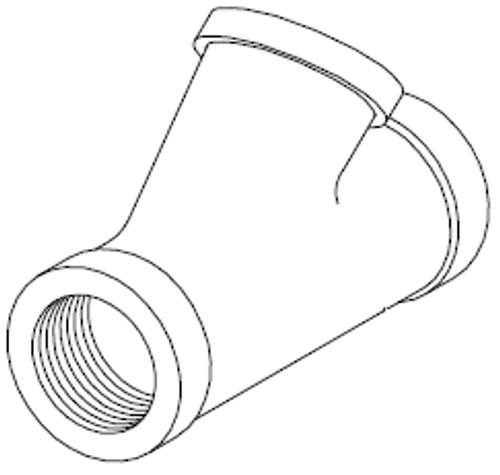 Pipe Wye, 1-1/4 inch