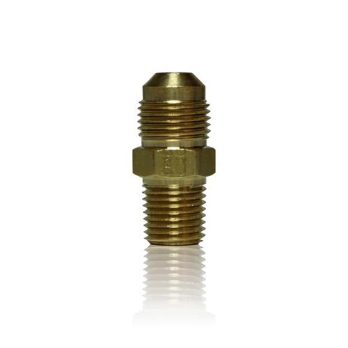 Brass Adaptor, 1/4 inch NPT x 3/8 inch MJIC