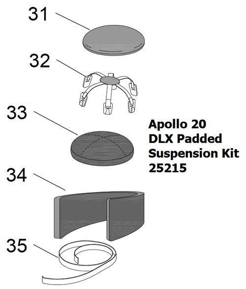25215 Clemco Apollo 20 DLX Padded Suspension Kit