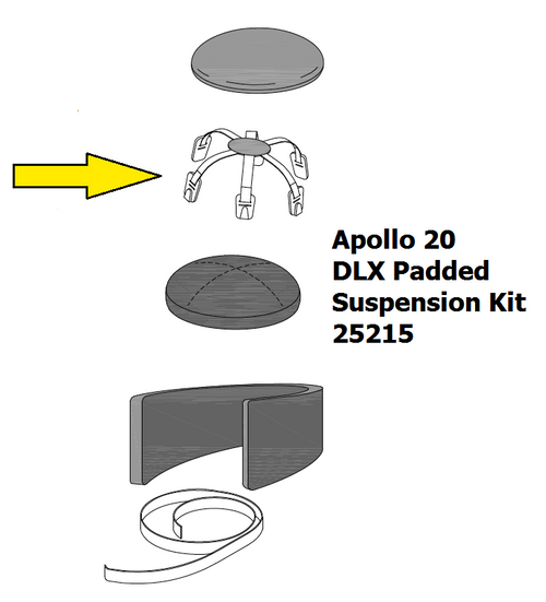 25219 Clemco Apollo 20 DLX Padded Suspension Web