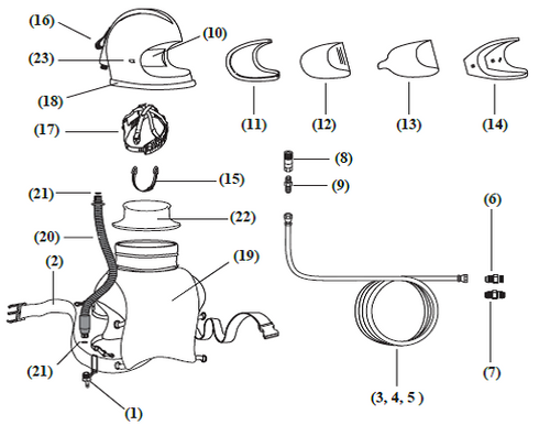 Washers, Helmet Breathing Tube, 6-pk