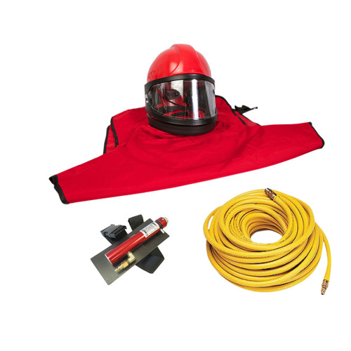Clemco Apollo 60 HP Supplied Air Respirator with CCT and 50ft. Air Hose
