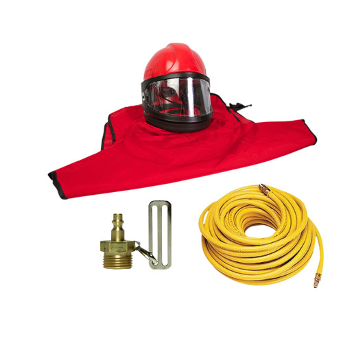 Clemco Apollo 60 HP Supplied Air Respirator with CFC and 50ft. Air Hose