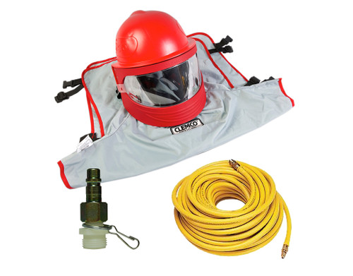Clemco Apollo 60 LP Supplied Air Respirator with CFC and 50ft. Air Hose