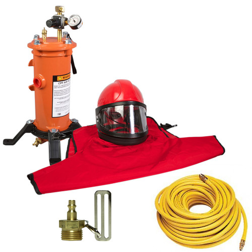 Clemco Apollo 60 HP Supplied Air Respirator with CFC, 50ft. Air Hose and CPF 20 Air Filter