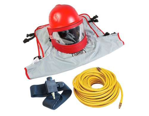 Clemco Apollo 600 HP DLX Supplied Air Respirator with ACV and 50 ft. Hose