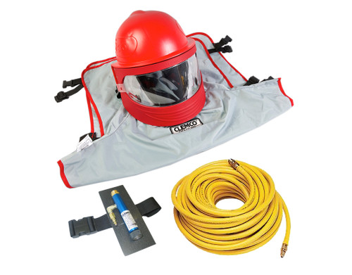 Clemco Apollo 600 HP Supplied Air Respirator with CAT and 50 ft. Hose