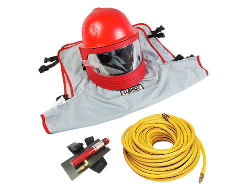 Clemco Apollo 600 HP Supplied Air Respirator with CCT and 50 ft. Hose
