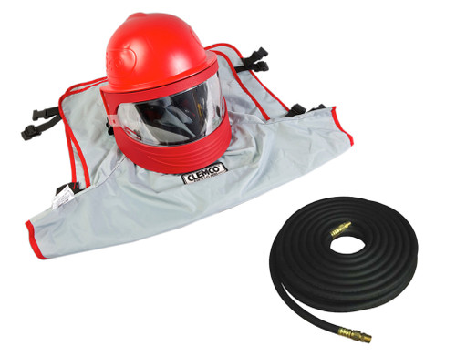 Clemco 25210, Apollo 600 LP DLX Helmet w/ CFC, 50 ft hose