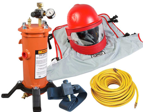 Clemco Apollo 600 HP Supplied Air Respirator with ACV, 50 ft. Hose and CPF-20 Filter