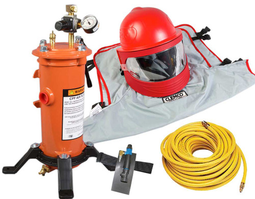 Clemco Apollo 600 HP Supplied Air Respirator with CCAC, 50 ft. Hose and CPF-20 Filter