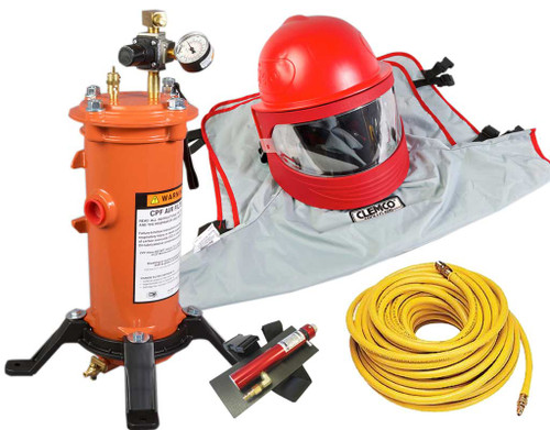 Clemco Apollo 600 HP Supplied Air Respirator with CCT, 50 ft. Hose and CPF-20 Filter