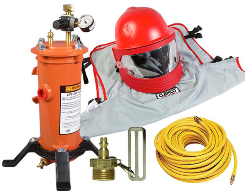 Clemco Apollo 600 HP Supplied Air Respirator with CFC, 50 ft. Hose and CPF-20 Filter