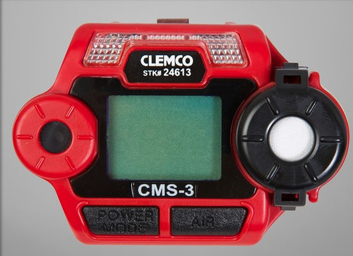 Clemco CMS-3, In-Helmet, Carbon Monoxide Monitor with connector and test gas