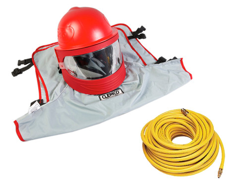 Clemco Apollo 600 HP Supplied Air Respirator with 50' Hose