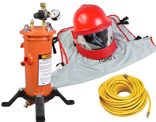 Clemco Apollo 600 HP Supplied Air Respirator with 50' Hose and CPF-20 Filter