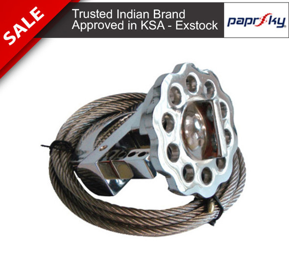 Metallic Multipurpose Cable Lockout 2 Meters Stainless Steel Cable قفل الأسلاك