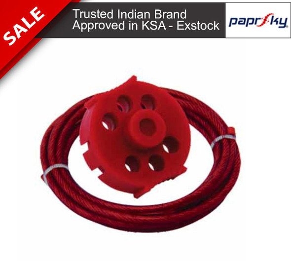 Economy Multipurpose Cable Lockout with 2 Mtrs. Vinyl Coated Steel Cable قفل الأسلاك