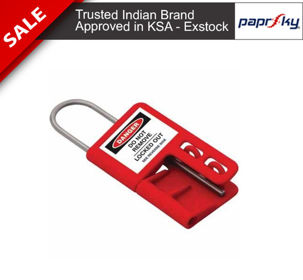 Ultra Safe Lockout Hasp - PVC Hasp with 3mm Stainless Steel Shackle PS-LOTO-HASP-USL3 تأمين القفل