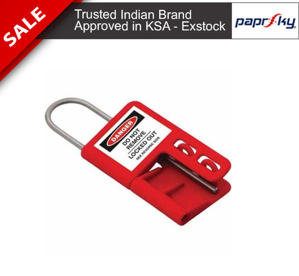 Ultra Safe Lockout Hasp - PVC Hasp with 4mm Stainless Steel Shackle PS-LOTO-HASP-USL4 تأمين القفل