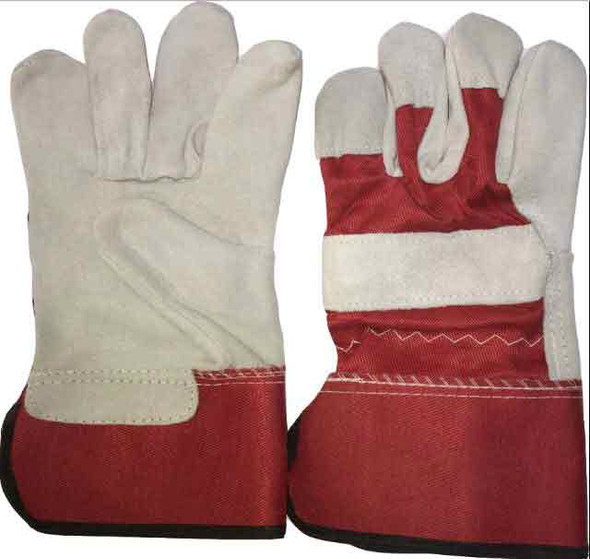 Red No.1 Double Palm Working Glove Heavy Duty 11""