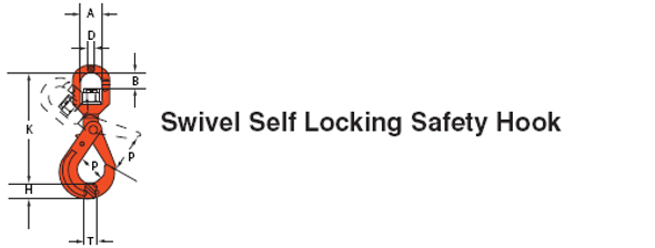 Swivel Self Locking Safety Hook