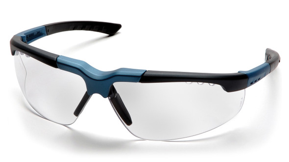 Pyramex Reatta SNC4810D Clear Lens with Blue/Charcoal Frame